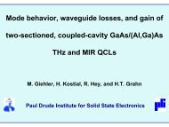 Mode behaviour, waveguide losses, and gain of two - ITQW07