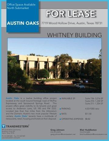 Austin Oaks-Whitney.indd - Austin - Transwestern