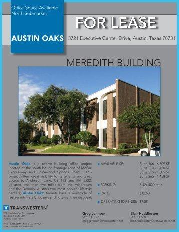Austin Oaks-Meredith.indd - Austin - Transwestern