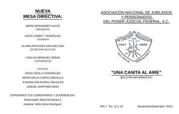 Noviembre - Diciembre 2012 - ASOCIACIÓN NACIONAL DE ...