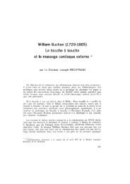 William Buchan (1729-1805) - Bibliothèque interuniversitaire de ...