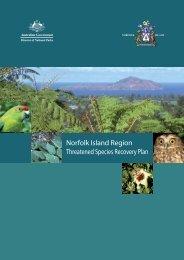 Norfolk Island Region Threatened Species Recovery Plan