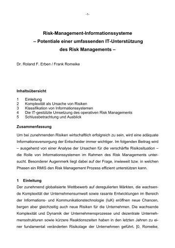 Risk-Management-Informationssysteme – Potentiale einer ...