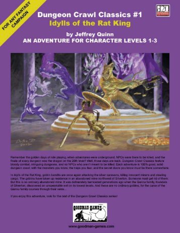 Dungeon Crawl Classics #1: Idylls of the Rat King - Goodman Games