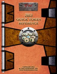 2012 Quick Reference Token Guide - True Dungeon