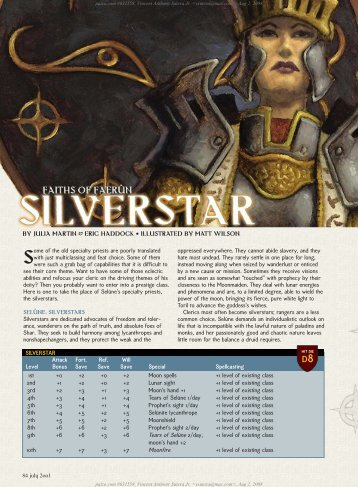 Faith of Faerun:Silverstar - Anthony's Home Page