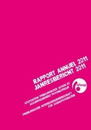 Rapport annuel 2011 Jahresbericht 2011 - AFAAP