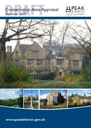 draft rowsley conservation area appraisal - Peak District National ...