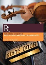rhinegold education music & drama resource catalogue 2010