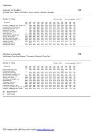 View Timetable - Centrebus