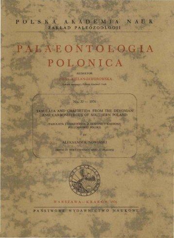 r - Palaeontologia Polonica - Polska Akademia Nauk