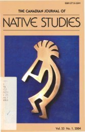 lYE STUDIES - Indigenous Studies Portal - University of ...