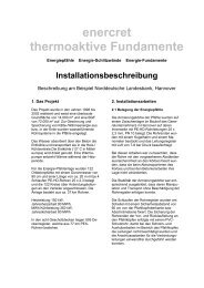 enercret thermoaktive Fundamente