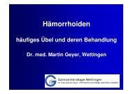 Vortrag Hämorrhoiden - Gastroenterologie Wettingen
