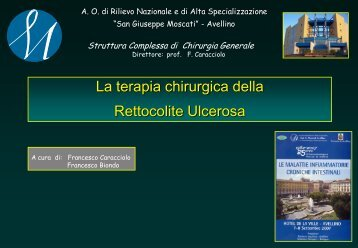 La terapia chirurgica della rettocolite ulcerosa