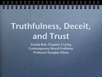 Truthfulness, Deceit, and Trust - Olena's
