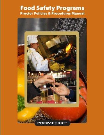 Proctor Manual - NEHA Food Safety Training