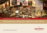 Kulinarischer Kalender April bis Juni 2013