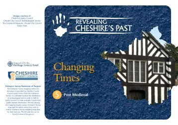 Changing times – Post medieval Cheshire (PDF, 841KB)