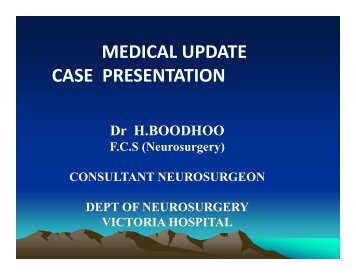 A Medley of Clinical and Radiological Case Presentations