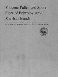 Miocene Pollen and Spore Flora of Eniwetok Atoll, Marshall ... - USGS