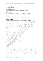 UNESCO – EOLSS SAMPLE CHAPTERS