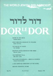 Music in the Bible - Jewish Bible Quarterly