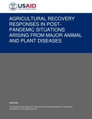 AGRICULTURAL RECOVERY RESPONSES IN POST- PANDEMIC ...