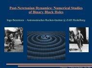 Post-Newtonian Dynamics: Numerical Studies of Binary Black Holes
