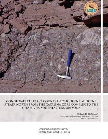 Conglomerate Clast Counts in Oligocene-Miocene Strata North