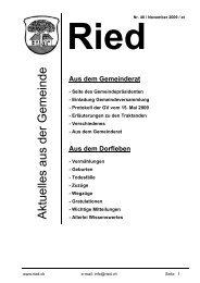 Bulletin Nr. 48 (November 2009) - Gemeinde Ried b. Kerzers