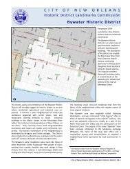 Bywater Historic District - City of New Orleans