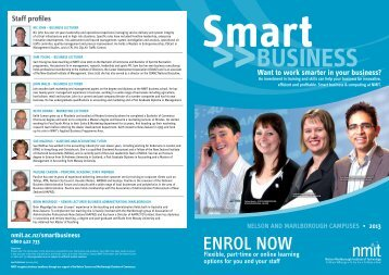 Download the 2013 Smart Business Brochure - NMIT