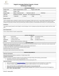 Additional Program Information - Conestoga College