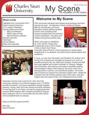 Issue 8, Summer 2012 - Charles Sturt University Ontario
