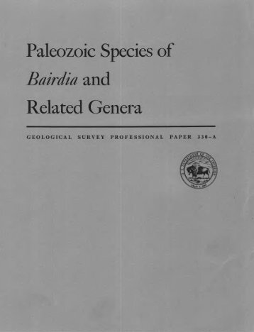 Paleozoic Species of Bairata and Related Genera - USGS