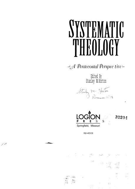 00055 Horton Systematic Theology Part 1 pdf - Media Sabda Org
