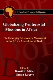 Globalizing Pentecostal Missions in Africa - Decade of Pentecost