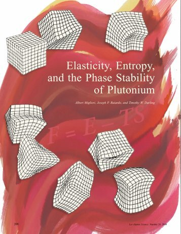 Elasticity, Entropy, and the Phase Stability of Plutonium
