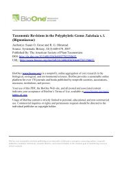Taxonomic Revisions in the Polyphyletic Genus ... - CNCFlora