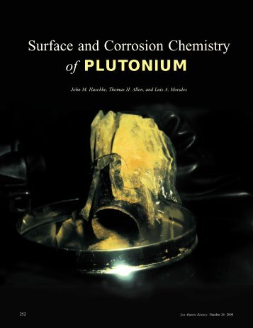 Surface and Corrosion Chemistry of PLUTONIUM - Federation of ...