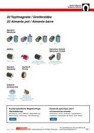 22 Topfmagnete / Greiferstäbe 22 Aimants pot ... - Maurer Magnetic AG