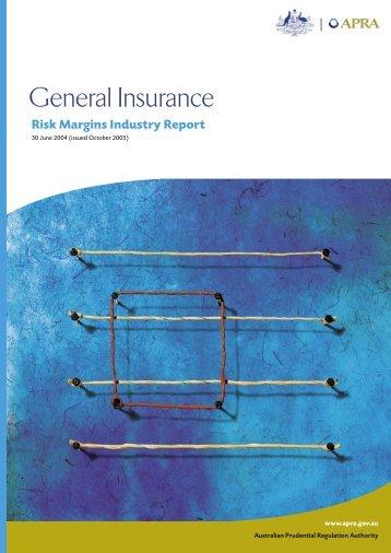 Risk Margin Industry Report - Australian Prudential Regulation ...