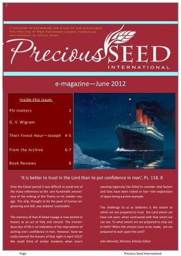 e-magazine—June 2012 - Precious Seed