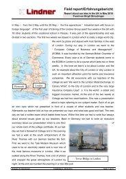 Field report/Erfahrungsbericht - Lindner Group