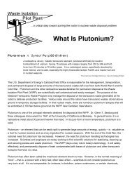 What is Plutonium? - Fact Sheet - Waste Isolation Pilot Plant - U.S. ...