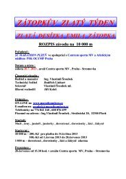 ZZT 2013 - Rozpis na 10 000 m.pdf - SC Marathon Plzeň
