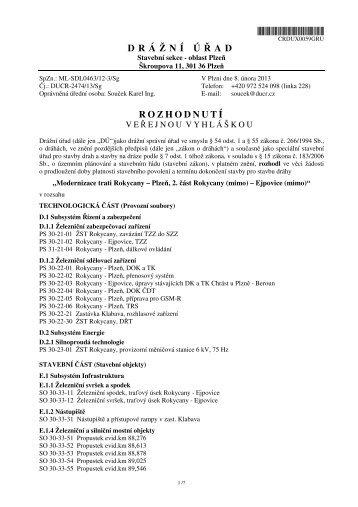 Rozhodnutí o prodloužení platnosti stavebního povolení - Klabava