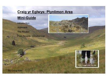 Craig yr Eglwys: Plynlimon Area Mini-Guide - The Climbers' Club