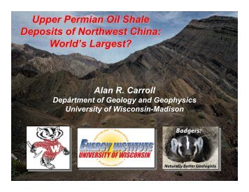 Upper Permian Oil Shale Deposits of Northwest China: World's ...